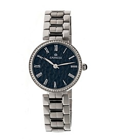 Catherine Automatic Silver Case, Black Dial, Silver Stainless Steel Watch 36mm
