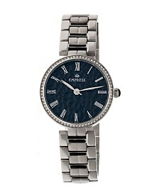 Empress Catherine Automatic Silver Case, Black Dial, Silver Stainless Steel Watch 36mm