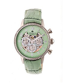 Beatrice Automatic Mint Leather Watch 38mm