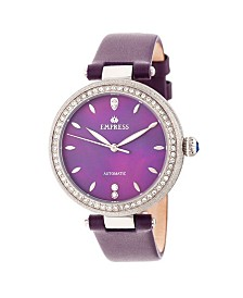 Empress Louise Automatic Purple Leather Watch 36mm