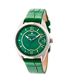Messalina Automatic Green Leather Watch 34mm