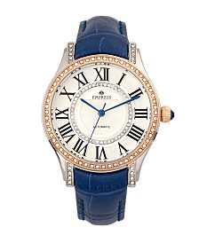 Empress Xenia Automatic Blue Leather Watch 35mm