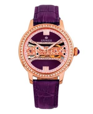 Rania Mechanical Plum Leather Watch 38mm