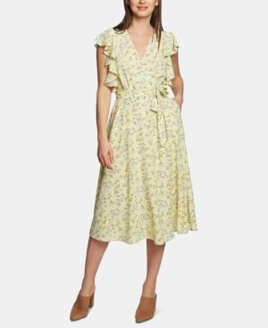 1.state Dresses BLOSSOM CLUSTER FLOUNCE DRESS
