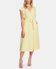 1.STATE Ruffled Faux-Wrap Dress