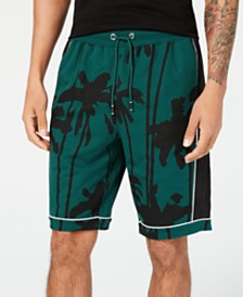 I.N.C. Men's Palm-Tree Graphic Shorts, Created for Macy's