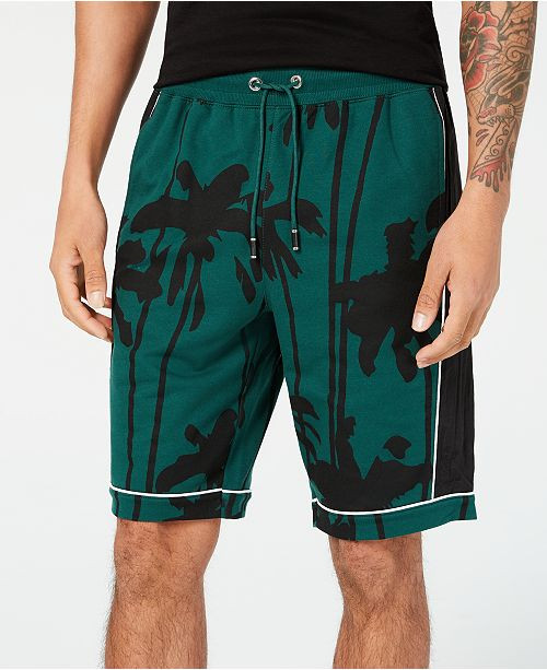 INC International Concepts I.N.C. Men's Palm-Tree Graphic Shorts, Created for Macy's