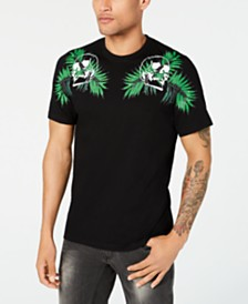 I.N.C. Men's Botanical Skull T-Shirt, Created for Macy's