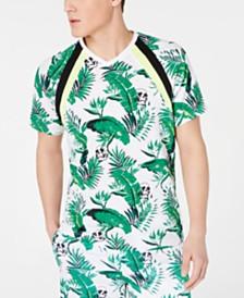 I.N.C. Men's Botanical Skull Print T-Shirt, Created for Macy's