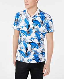 I.N.C. Men's Leaf & Skull Polo, Created for Macy's