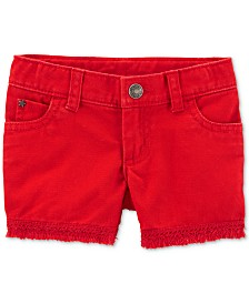 Carter's Toddler Girls Frayed-Hem Cotton Denim Shorts
