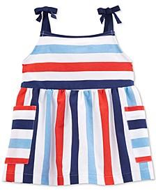 Toddler Girls Striped Cotton Tank