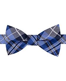 Tommy Hilfiger Men's West Side Plaid To-Tie Silk Bow Tie