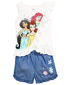 Disney Toddler Girls 2-Pc. Princesses Top & Shorts Set, Created for Macy's
