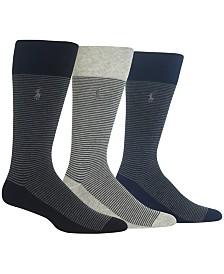 Polo Ralph Lauren Men's 3-Pk. Striped Socks