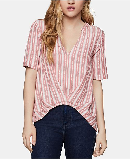 BCBGeneration Striped High-Low Top