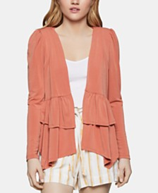 BCBGeneration Open-Front Peplum Jacket