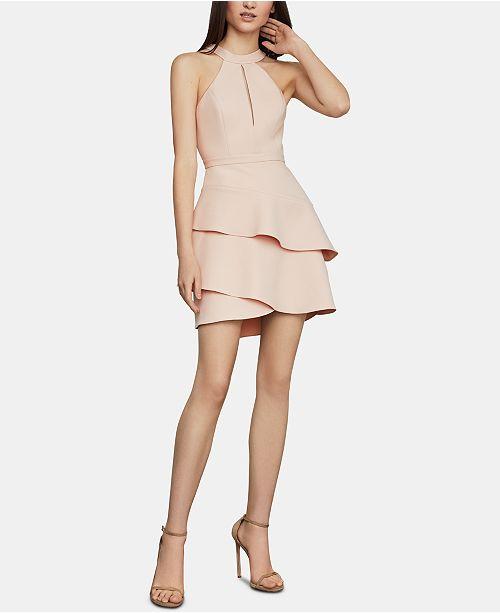 87cb92ef BCBGMAXAZRIA Tiered Halter Dress & Reviews - BCBGMAXAZRIA - Women ...