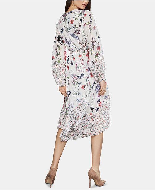 sauvages melangesCritiques a trapèze Fleurs Bcbgmaxazria Robe Femmes blanc imprimes htsQdCr
