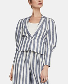 BCBGMAXAZRIA Striped One-Button Blazer