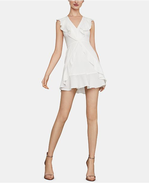 1bb8ca310fa BCBGMAXAZRIA Ruffled Fit   Flare Dress   Reviews - BCBGMAXAZRIA ...
