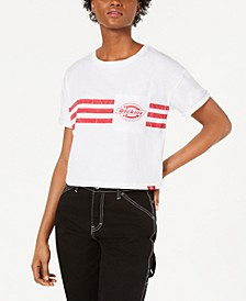 Chest-Stripe Cropped T-Shirt