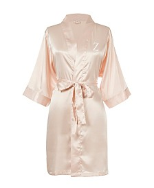 Personalized Luxury Blush Pink Satin Robe (S-M)
