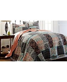 Sanctuary By Pct 100% Cotton 3 Pc Printed Reversible Quilt Sets Sylvia King