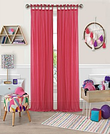 "Greta 50"" x 84"" Crushed Sheer Curtain Panel"