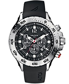 Men's N14536G NST Chrono Black Resin Strap Watch