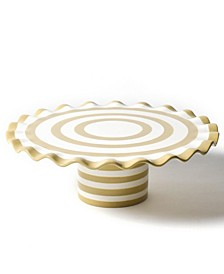 by Laura Johnson Cobble Spot On Ruffle Cake Stand