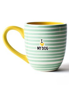 Coton Colors Mint I Love My Dog Mug