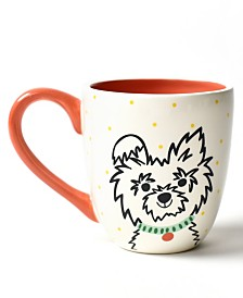 Coton Colors Pet Fluffy Dog Portrait Mug