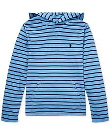 Polo Ralph Lauren Big Boys Striped Cotton Jersey Hooded T-Shirt