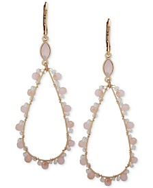 lonna & lilly Gold-Tone Bead Open Teardrop Earrings