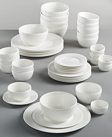 White Elements Fleetwood 42-Pc. Dinnerware Set, Service for 6, Created for Macy's