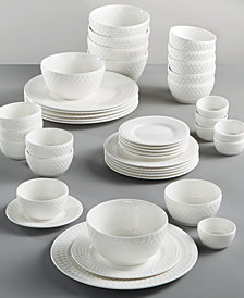 Gibson White Elements Fleetwood 42-Pc. Dinnerware Set, Service for 6, Created for Macy's