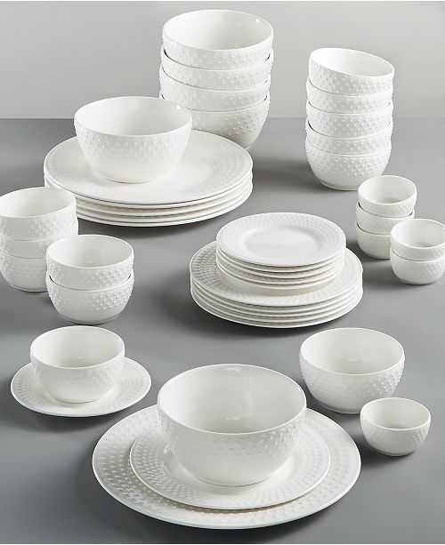 White Elements Fleetwood 42 Pc Dinnerware Set Service For 6 Created Macy S