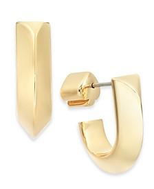 Gold-Tone Huggie Hoop Earrings