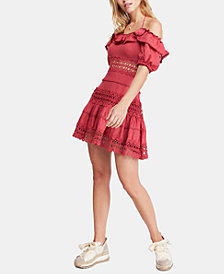 Free People Cruel Intentions Crochet-Lace Dress