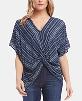 7d41dbf72 Karen Kane Striped Knot-Front Top
