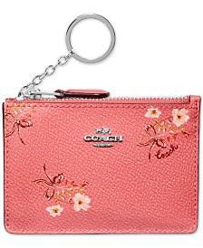 COACH Floral Mini Skinny ID Wallet