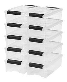 Iris 5 Quart Stack and Pull Box, 10 Pack