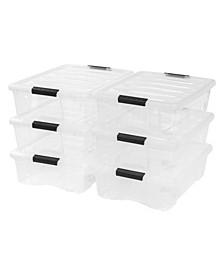 Iris 26 Quart Stack and Pull Box, 6 Pack