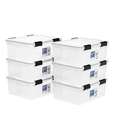 Iris 30 Quart Weather tight Storage Box, 6 Pack