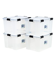 Iris 74 Quart Weather tight Storage Box, 4 Pack