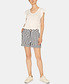 Cabana High-Waist Cotton Shorts