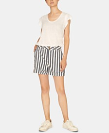 Sanctuary Cabana High-Waist Cotton Shorts