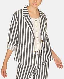 Sunrise Striped Cotton Blazer