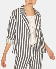 Sanctuary Sunrise Striped Cotton Blazer